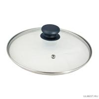 Крышка стеклянная метал. ободок с пароотводом, кн. Р01, d18