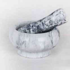 Ступка с пестиком из натуральн. камня 8х5см п/уп KR300