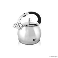 LR00-10 Чайник LARA (матовый) 2,5л, индукционное дно 0.5мм, хромированная оцинкованная ручка