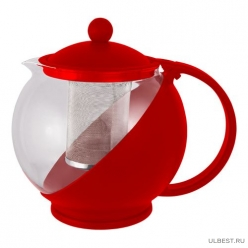 Чайник заварочный РТР-01-500ML (стекло, пластик корпус, металл.ситичко) 910101