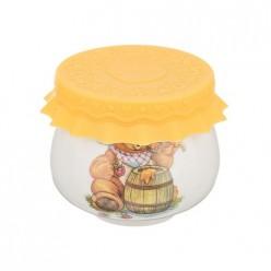Баночка для меда/варенья 180 мл. диаметр=8 см. высота=7 см. 359-308