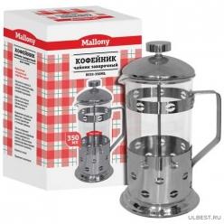 """Чайник/кофейник (кофе-пресс) """"Caffe"""" B535-350ML (сталь) арт.950145"""