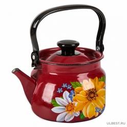 Чайник эмалированный КМК 42715-103/6 2л красный в ассортименте
