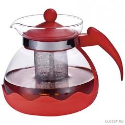 Чайник заварочный Decotto-1500 с пластик ручкой, фильтр из нерж ст, 1,5 л, Mallony арт.910107