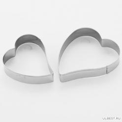 """BE-4324/3 Набор форм для печенья """"Сердце"""" 3шт (7,5х6см, 6,5х5см, 5,5х4,5см) (300/75)"""