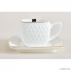 Набор чайный Коралл Снежная королева квадрат 2 персоны