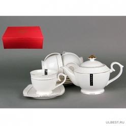Набор чайный Коралл Снежная королева круг 6 персон