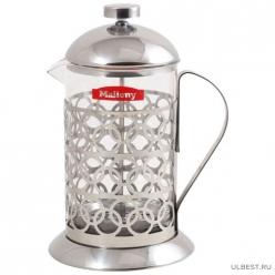Чайник/кофейник (кофе-пресс) Олимпия Т046-800ML (сталь) 950092