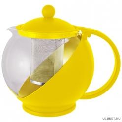Чайник заварочный РТР-01-750ML (стекло, пластик корпус, металл.ситичко) 910102