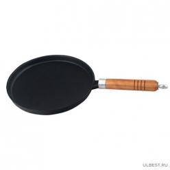 Сковорода блинная чугунная со съемной ручкой CP-23, диам - 23 см, в цветной коробке арт.985039