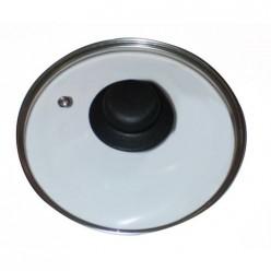 Крышка стеклянная T-type D=280 мм в компл. черная ручка КС-28