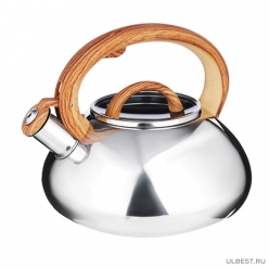 Чайник стальной VETTA Ива 3л, зеркальный, стеклянная крышка, индукция
