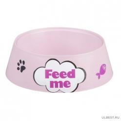 """Миска для кошек """"Феликс"""" 0,3л (розовый) (уп.30 ) М6969"""