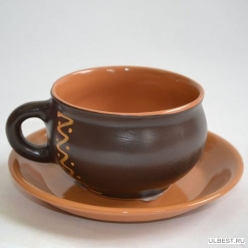 Чашка (Штр., Орн.) с блюдцем ОБЧ00000623