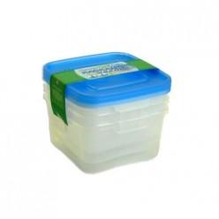 Комплект контейнеров СВЧ 3шт КАСКАД 2, КВАДРО 1л С67001 Полимербыт