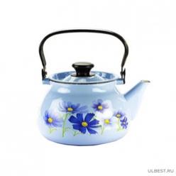 Чайник эмалированный КМК 42115-123/6 3л голубой в ассортименте