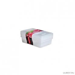 Набор емкостей для заморозки прямоугольных 3 шт. (0,75л) (PT2008) ПЛАСТ-ТИМ