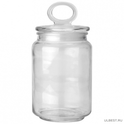 Стеклянная банка для сыпучих продуктов с крышкой COPPETTA, объем: 0,9 л, тм Mallony арт.003598