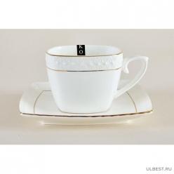 Пара чайная 240мл ф.квадрат CS507009-A снежная королева /з