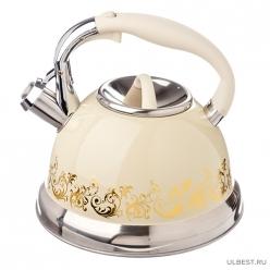 VETTA Чайник стальной 3.0л Золотая вязь, индукция (847-054)