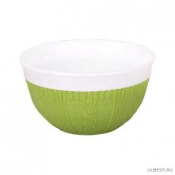 """Салатник """"Меланж"""" 0,5л с ободком (зеленый)(уп. 28) М6057"""