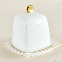 Блюдо д/лимона с крышкой 10см ф.квадр., снежная королева/з CS607110-A