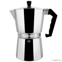 BE-0123 Гейзерная кофеварка WEBBER алюминиевая,450мл на 9 чашек (12)