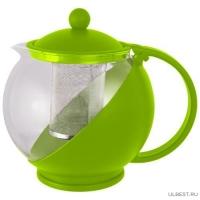 Чайник заварочный РТР-01-1200ML (стекло, пластик корпус, металл.ситичко) 910103