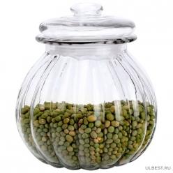 Стеклянная банка для сыпучих продуктов с крышкой BOLLA, объем: 0.75 л, тм Mallony арт.003607