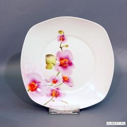 Тарелка обеденная 9 23см OV1203-2 орхидея квадр