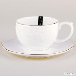 Пара чайная Коралл Снежная королева круг 240мл