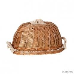 Хлебница с крышкой круглая в комплекте салфетка 119-207