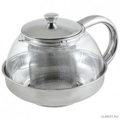 Чайник заварочный Menta-600 корпус/фильтр из нерж стали, 600 мл, Mallony арт.910110