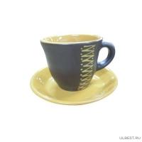 Чашка для чая с блюдцем Арт. чугун ЧУГ00000638