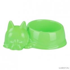 """Миска для кошек """"Барсик"""" 0,5л (зелёный) (уп.25) М6940"""