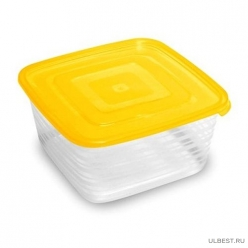 Контейнер для продуктов (СВЧ) Унико квадратный 1.4л С210