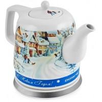 Электрический чайник Polaris PWK 1283CCR Снежная зима