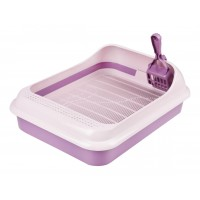 Набор для кошек Феликс туалет-лоток,совок фиолетовый М6975