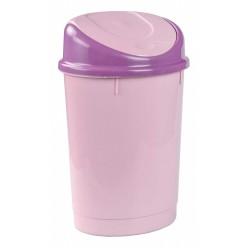 Контейнер д/мусора 12л овальный розовый М6959