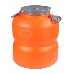 Канистра-бочка Байкал 40л оранжево-серый М7599
