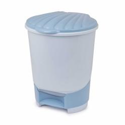 Ведро для мусора 18л с педалью голубой М7995