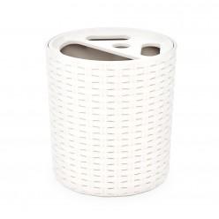 Подставка для зубных щеток Плетенка белый М2534