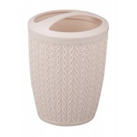Подставка для зубных щеток Вязаное плетение бежевый М6876