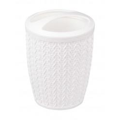 Подставка для зубных щеток Вязаное плетение белый М7120