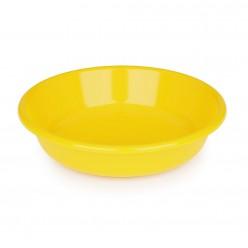 Тарелка 1л диам.185ммглубокая желтый М590