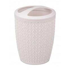Подставка для зубных щеток Вязаное плетение св.серый М7122