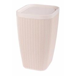 Контейнер д/мусора Вязаное плетение 10л бежевый М7489