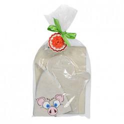 Подарочный набор 3 предмета Пятачок (шапка, коврик, рукавица) Банные штучки /20 41385