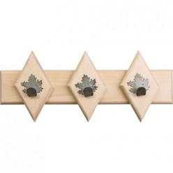 Вешалка 33*13 см, 3 металлических крючка-клён /4 32309