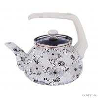 Чайник эмалированный Interos Кружево 2.2л 1279
